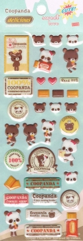 Puffy - Sticker - Coopanda, blau