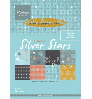 Pretty Papers Bloc - A5 - Eline's Silver Star