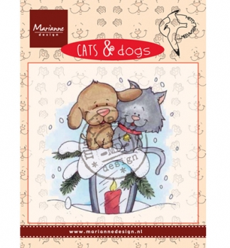 Cats & Dogs - Candle light - Clear Stamp von Marianne Design