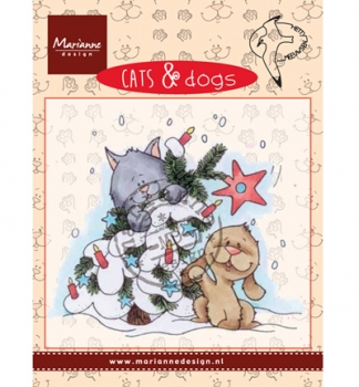 Cats & Dogs - Tree decorating - Clear Stamp von Marianne Design
