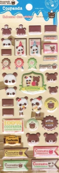 Puffy - Sticker - Coopanda, beige