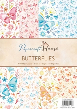 Paper Pack - Papercraft House - Butterflies - A4
