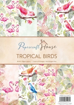Paper Pack - Papercraft House - Tropical Birds - A4