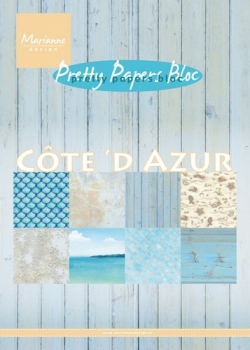 Pretty Papers Bloc - A5 - Cote d'Azur