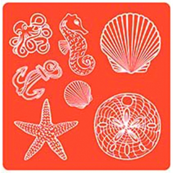 Mod Podge, Mod Mold - Sea Life, 95 × 95 mm, 7 Designs