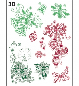 Weihnachtsmotive klassisch 3D / Classical Christmas Motives 3D - Clear Stamps