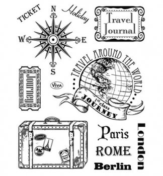 Paris, Rom, Berlin - Clear Stamps