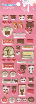 Puffy - Sticker - Coopanda, pink