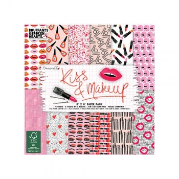 "6 x 6"" Paper Pack - Kiss & Makeup (150g/m²)"