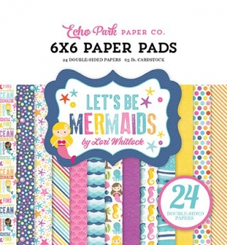 "6 x 6"" Paper Pads - Let´s Be Mermaids (180g/m²)"