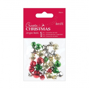 Create Christmas - Jingle Bells - Glöckchen Sortiment, bunt