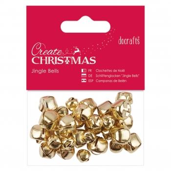 Create Christmas - Jingle Bells - Glöckchen Sortiment, gold