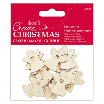 Wooden Embellishment - Angels / Engel - Create Christmas