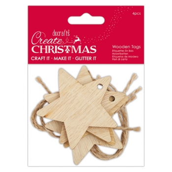 Wooden Tags - Star / Sterne - Create Christmas