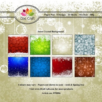 Snow Crystal Background - 15 x 15 cm Paper Pad (200g/m²)