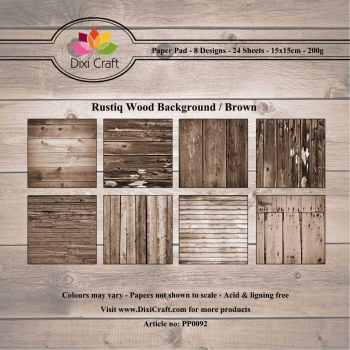 Rustiq Wood Background / Brown - 15 x 15 cm Paper Pad (200g/m²)