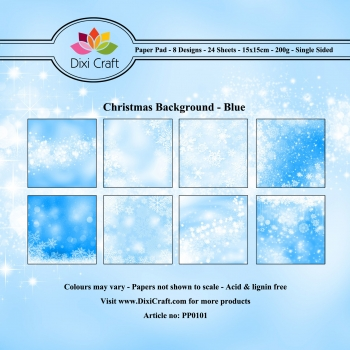 Christmas Background - Blue - 15 x 15 cm Paper Pad (200g/m²)