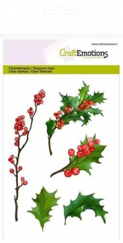 Berry Twigs and Holly Leaves / Beerenzweige und Stechpalme - Clear Stamps
