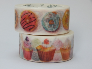 Washi Tape - Donuts und Cupcakes - 2er Set