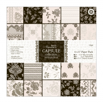 "6 x 6"" Paper Pack (32Bl) - Capsule Collection - Midnight Blush"